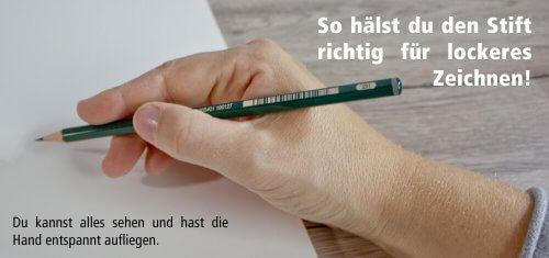 So hälst du den Stift richtig in der Hand