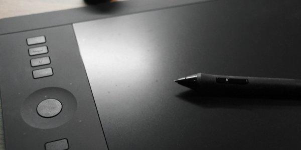 Wacom Grafiktablett mit Stift
